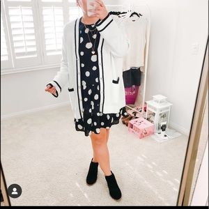 NWT Who What Wear polka dot long sleeve dress